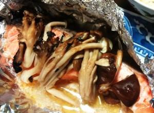 鮭と茸のホイル焼き